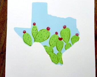 Tiny Texas Prickly Pear Print