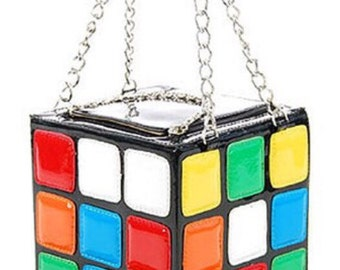 Rubik's Cube Leather Tote