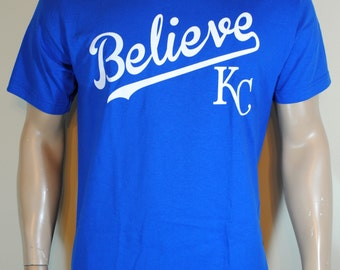 Kansas City Royals Mens T shirt Believe KC Baseball Tee