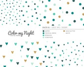 80% OFF SALE Digital Paper Green 'Pack02' Gold Glitter & Green Confetti Backgrounds for Scrapbook, Party Invitations, Crafts...