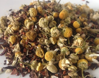 Vanilla Chamomile Loose Leaf Tea, Honeybush Tea, Caffeine Free Tea, Red Tea