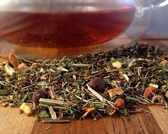 Night Time Tea, Loose Leaf Tea, Red Tea, Detox Tea, Red Rooibos, Caffeine Free, Lemon, Peppermint