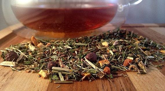 Night Time Tea, Loose Leaf Tea, Red Tea, Detox Tea, Red Rooibos, Caffeine Free, Lemon, Peppermint