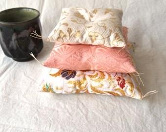 silk,cushion,small,kyoto,kimono,japanese,gold,white,pink