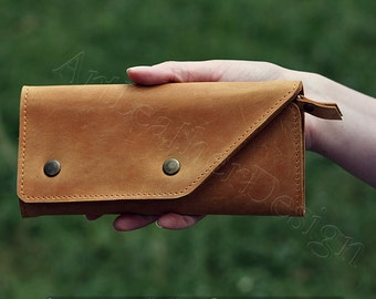 Leather Wallet, Leather Wallets Women, Large Leather Wallet, Women Leather Wallet Purse, Leather Wallet men, Wallets for Women, vintage