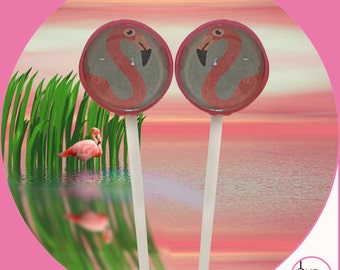 Flamingo Lollipops