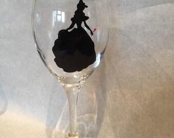 Beauty & the Beast Belle wine glass
