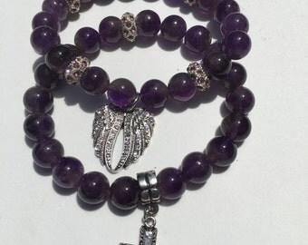 Faith Ameythst Bracelets
