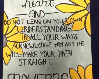 Proverbs 3:5-6 Painting