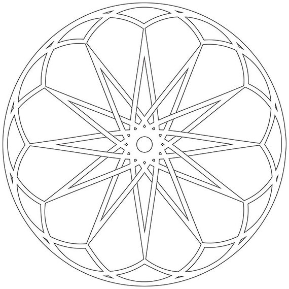 Mandala Coloring Pages Instant Download Printable PDF
