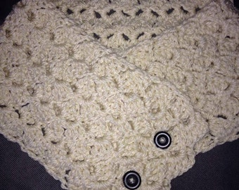 Crocheted Button Scarf