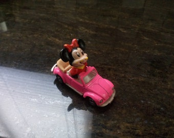 Vintage Minnie Mouse in Pink Volkswagen Made in Japan