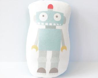 Robot, Mini Bot, Stuffed Mini Robot, Plush Robot, Robot Cushion, Kids Gift, Boy Gift, Baby Boy Gift, Toddler Gift, Boy Nursery, Girl Nursery