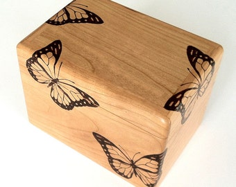 Cherry Butterfly Recipe box