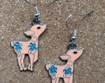 Cute Deer Enamel Earrings