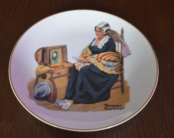 "Norman Rockwell's ""Memories"" Collectible Plate"