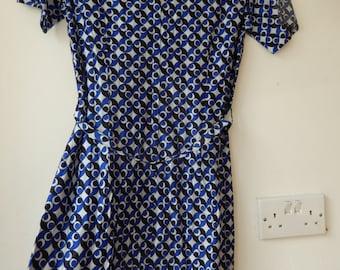 1970s geo-print dress