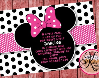 Minnie Mouse Birthday Printable Invitation