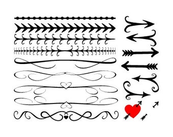 DIY wedding invites, Line boarders, Elegant lines, Fancy boarders, Scrolled lines, scroll boarder Arrows, Boarder art, download clipart