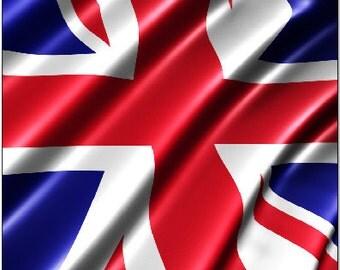 British Flag Wavy LAMINATED Cornhole Wrap Bag Toss Decal Baggo Skin Sticker Wraps