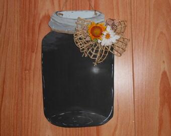 Chalkboard Mason jar hanger, Mason Jar Door Hanger