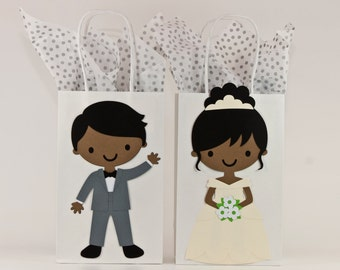Wedding - Wedding Gift Bags-Bridesmaids Gift Bags-Groomsmen Gifts Bags-Bride & Groom Gift Bag-Bridal Party Gift Bags-Set of 12 or Singles