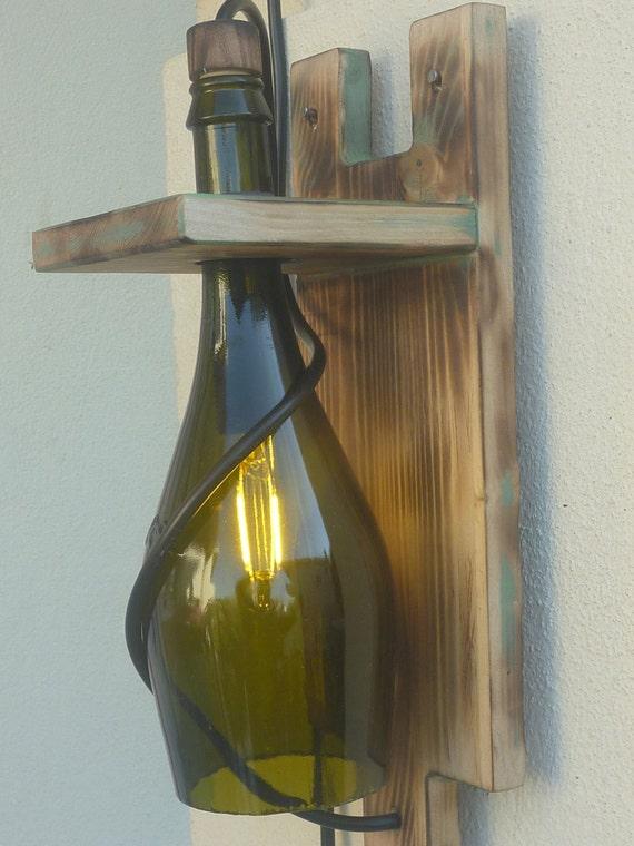 wandleuchte wandlampe industrielle outdoor-champagner-flasche, Hause ideen