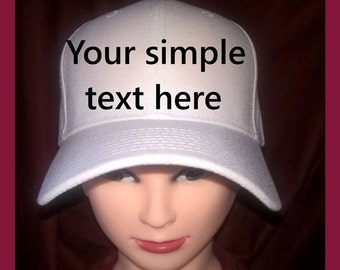 Your simple text here, One word only (When you order two hats, we will ship you one for free , all hats will have the same design)
