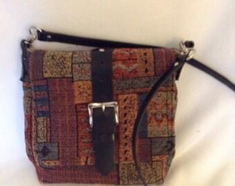 Tribal Print  Messenger Bag- Satchel, Crossbody bag, Multi-color messenger bag, Tapestry bag, Small messenger bag, Day bag, 2 Delany Designs