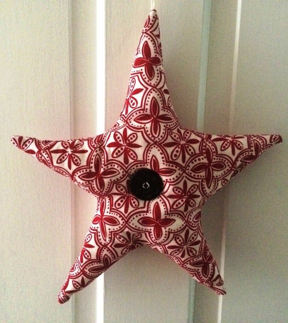 Nautical Plush Starfish Hanging Decoration for your Summer Door and More