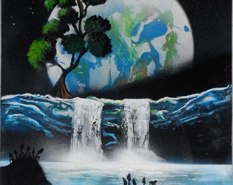 PAINTING: Tree of Life MIKYART Paint Spray Art 33x48 Painting made using spray paint