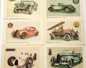 Soviet pocket calendars Set of 6 cards