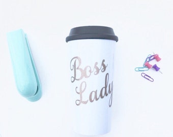Boss lady mug, bosses day gift, girl boss mug, gift for boss, entrepreneur, boss's day gift, manager gift, supervisor gift, promotion gift