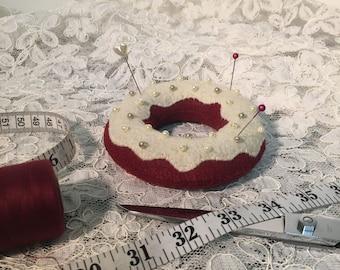 Red Velvet Doughnut Pin Cushion