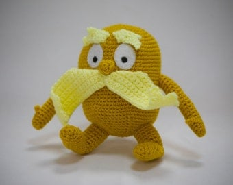 Handmade Crocheted The Lorax *Made to Order*