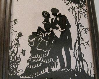 Silhouette, Romantic Silhouette, Man & Woman Silhouette
