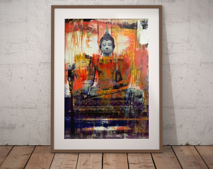 Ancient Asia VII by Sven Pfrommer - Artwork is ready to hand with a solid wooden frame
