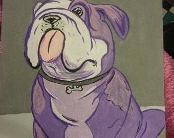 Abstract English Bulldog