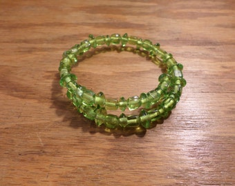 Glass Memory Wire Bracelet