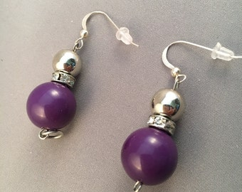 Rich Purple Earrings