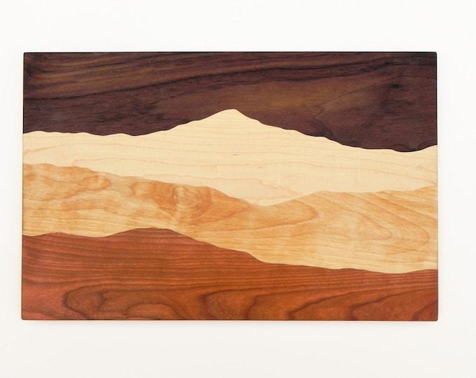 Storm over the mountain, cutting board, Mountain view, Mountains, Mountain Decor, Mountain art, Mountain Ridge, Home Decor, Kitchen Decor