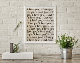 I Love You Printable