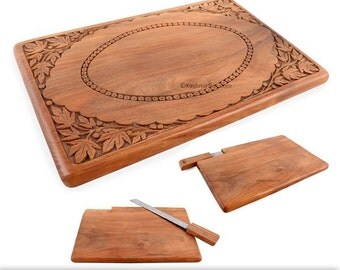 Hand Carved Cheese Platter