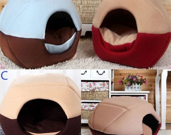 Pet Bed House Soft Warm Pad Cushion