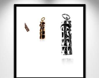 During Egyptian Onyx Silver Gold Vermeil _ Egyptian pendant Onyx silver or Vermeil