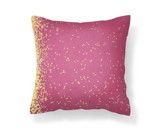 Pink Steel Pillow Cover, Decorative Pillow Cover, Throw Pillow Cover