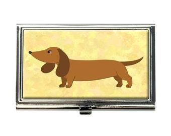 Little Dachshund Business Credit Card Holder Case