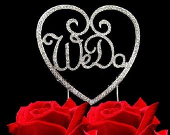 "4.5 In. X 4.5 In. Silver ""We Do"" Wedding Or Wedding Anniversary Rhinestone Cake Topper In Silver Tone"