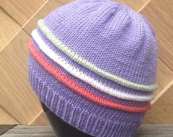 Cashmerino baby beret - size 0-6 months