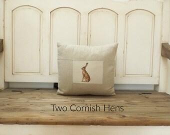 Peony & Sage Hare Cushion